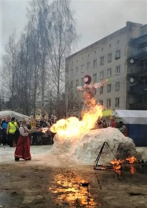 Сжигание чучела г. Сертолово - СПБ РО ОООИ ВОГ