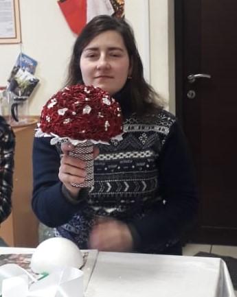 Поделка Розы на мероприятии Общества глухих в г. Всеволожск
